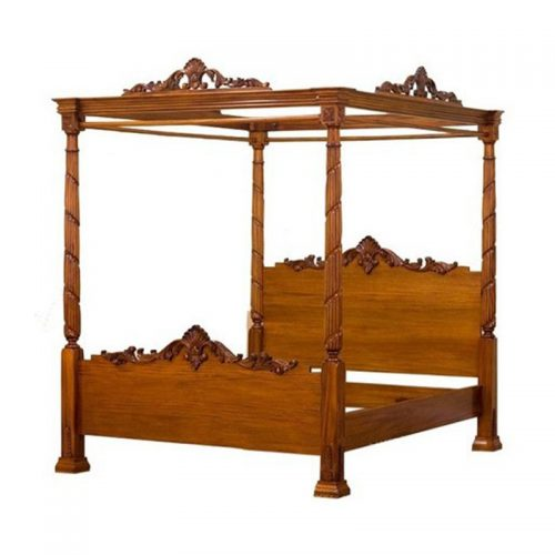 4 Poster Canopy Bed Carved