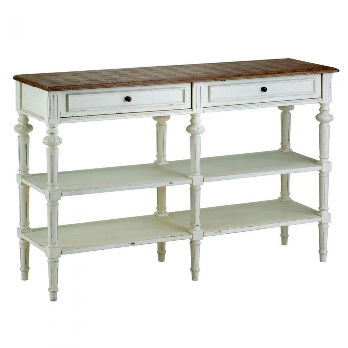 Abella Shabby Chic 6 Legs Console Table