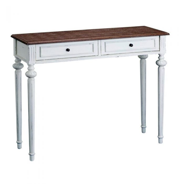 Abella Shabby Chic Console Table 2 Drawers