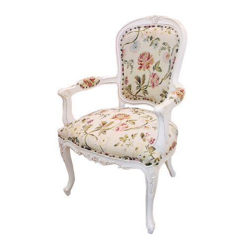 Antique mahogany dining armchair white painted