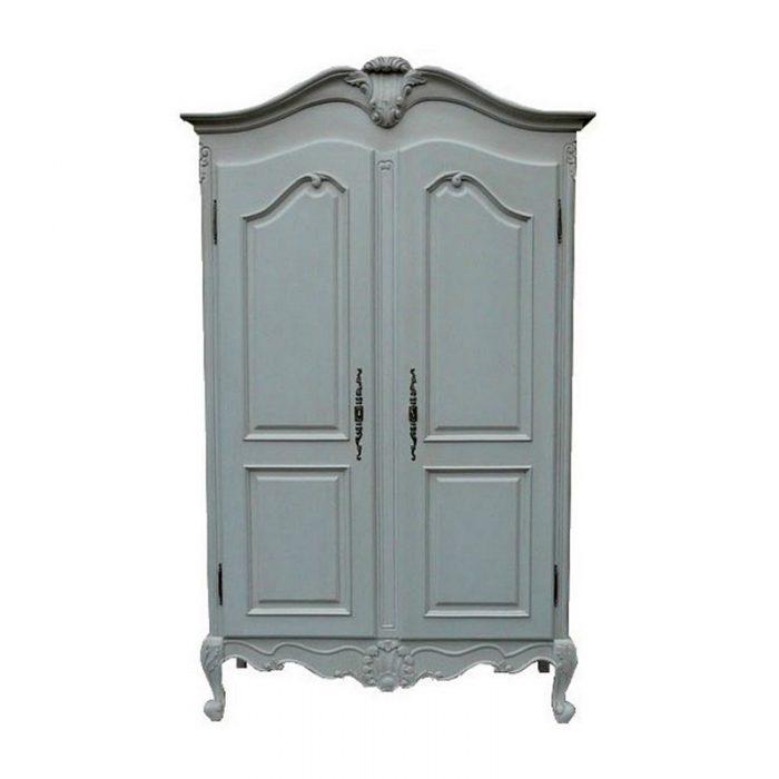 Antique Reproduction Armoire 2 Door White