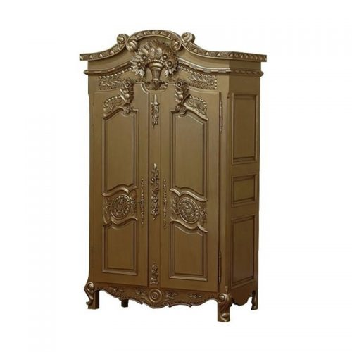 Antique Reproduction Armoire Golden Flower