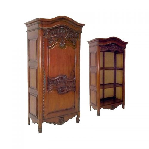 Antique Reproduction Armoire Louis Xv 1 Door