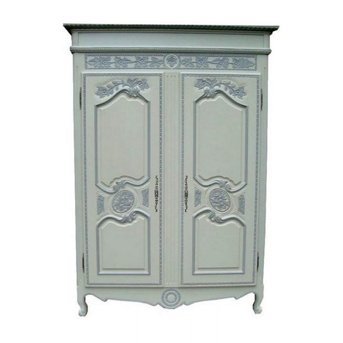 Antique Reproduction Armoire Mariage White