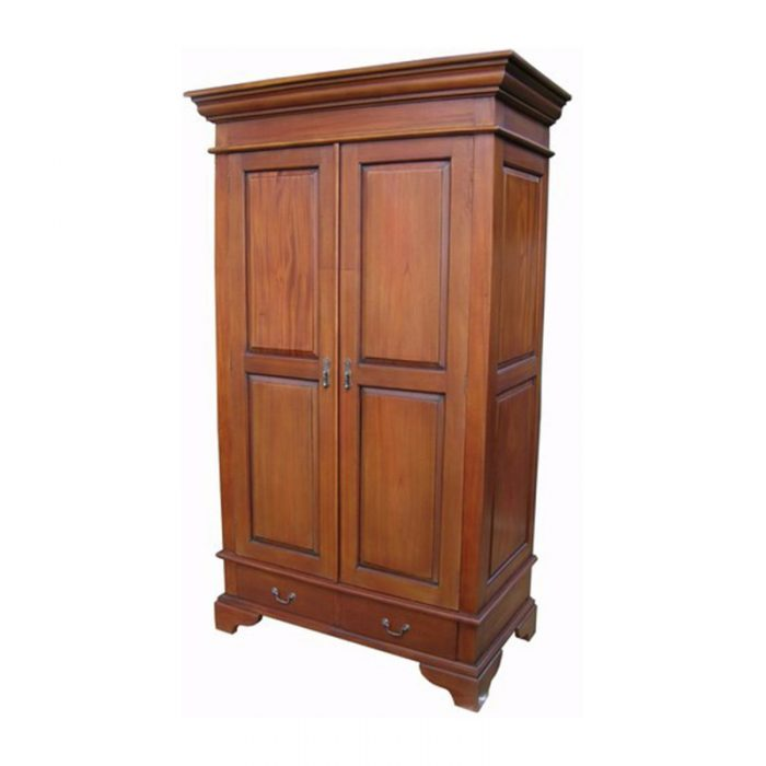Antique Reproduction Armoire Sleigh 2 Door 2 Drawer