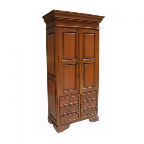 Antique Reproduction Armoire Sleigh 94X51X196Cm