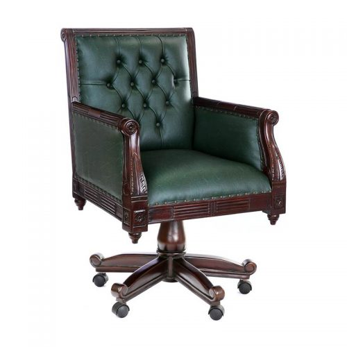 Antique Reproduction Library Swivel Chair