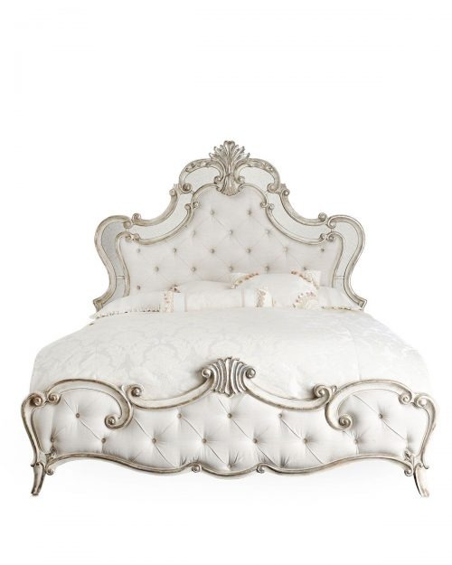 Classic Bed White Painted