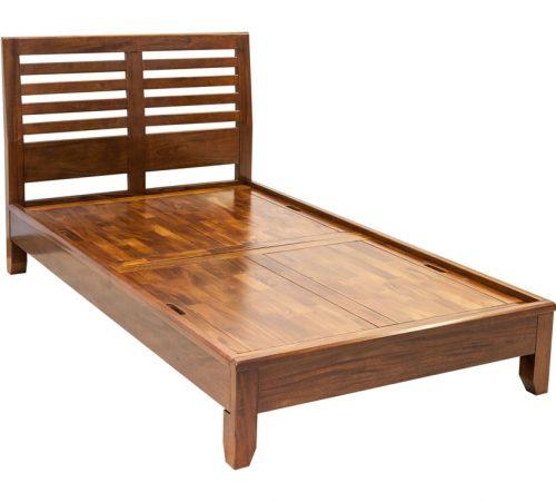 Modern Mahogany Bed Slate Headboard