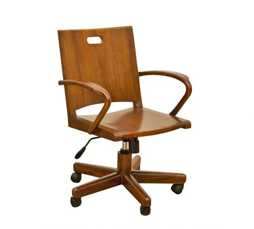 Solid Mahogany Office Chair 2