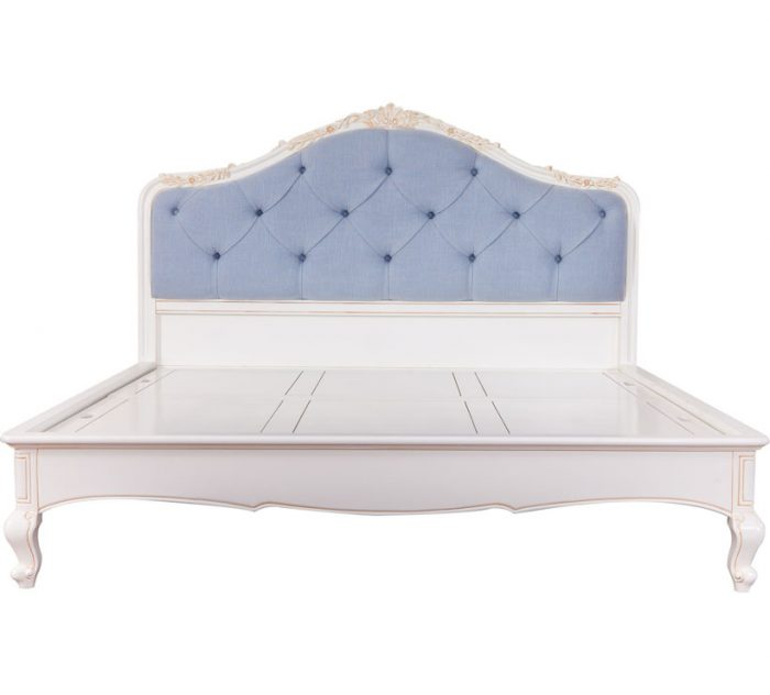 White Painted Mahogany Bed