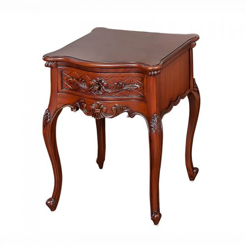Antique Mahogany Bedside Table 1 Drawer