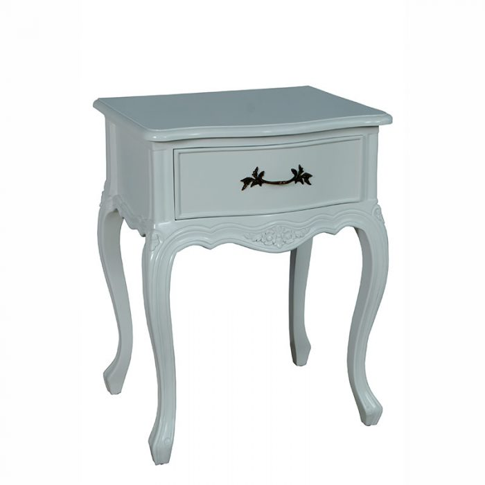 Bedside Table 1 Drawer White