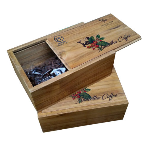 Wooden Box for Coffe