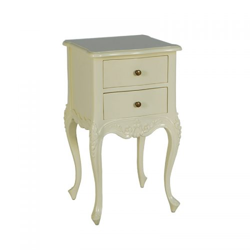French Bedside Table Ivory