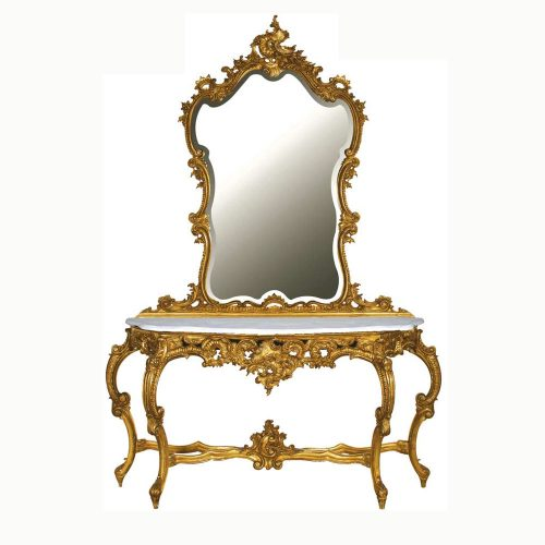 French Console Table With Mirror Versailles