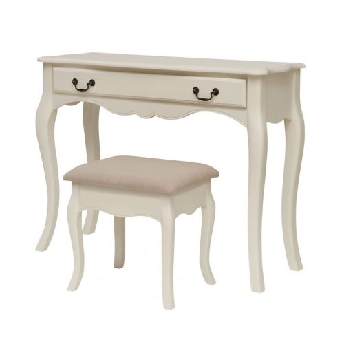 Ivory Dressing Table And Stool