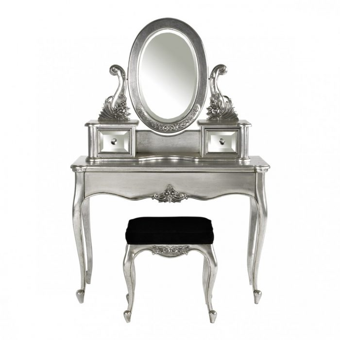 Louis Silver Leaf Dressing Table.Jpeg