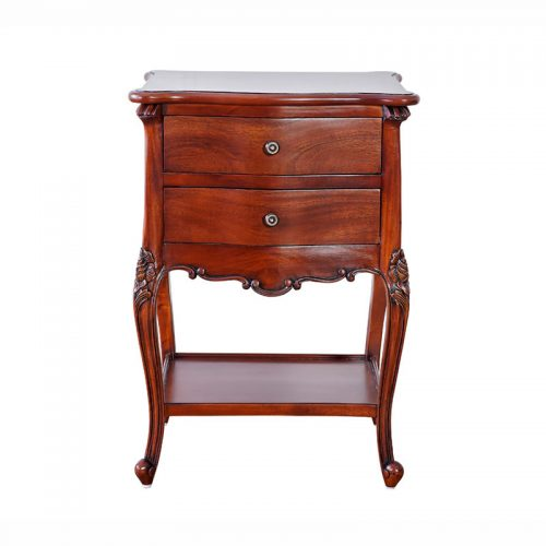 Mahogany Bedside Table 2 Drawer M