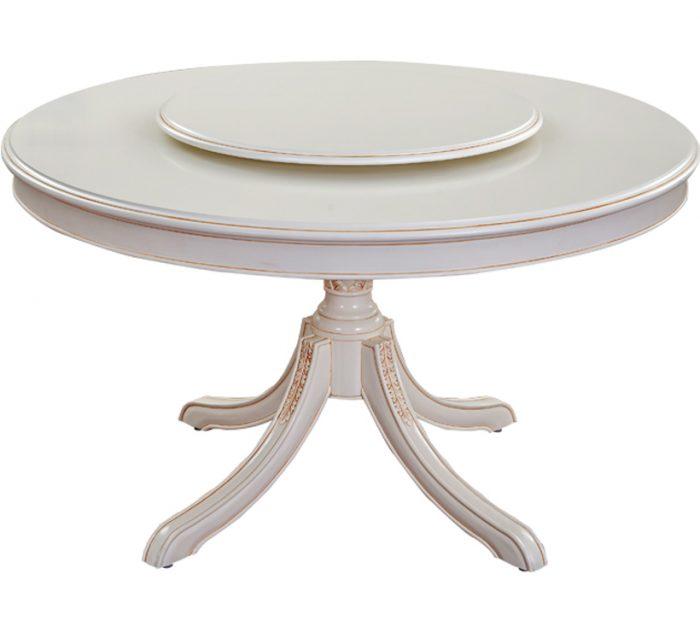 Mahogany Round Dining Table Lazy Susan 013