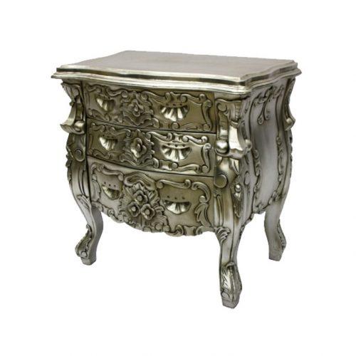 Rococo Bedside Silver Lieaf