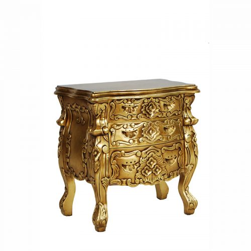 Rococo Bedside Table Gold