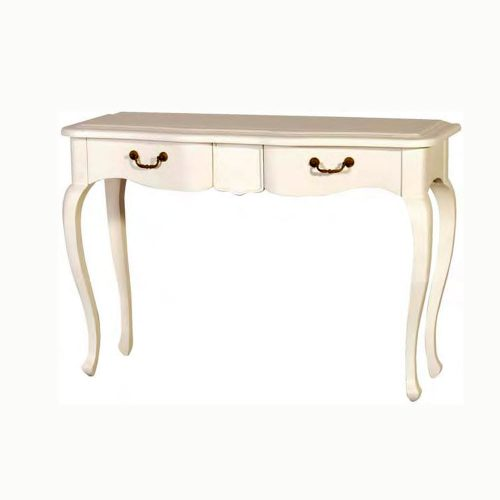White Painted Console Table 2 Drawers